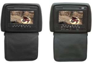 7 INCH Head Rest with DVD/zipper/USB/SD